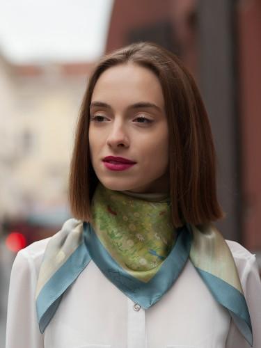 "Silk scarf M. K. Čiurlionis ""Angels (Paradise)"""
