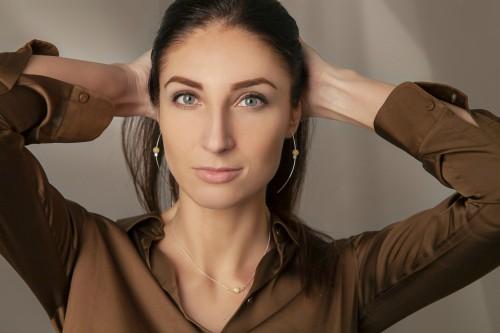 "Ketri Amber Jewelry earrings ""Sun drops"" No2"