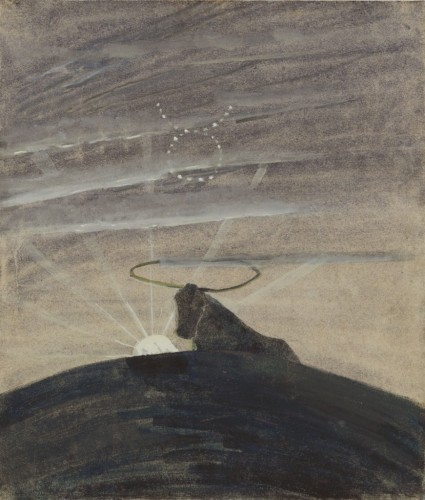 """M. K. Čiurlionis. The Sun is passing the Sign of Taurus. IV from the Cycle of 12 paintings """"The Zodiac"""""""