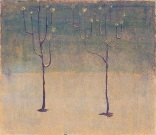 M.K.Čiurlionis. Winter motif