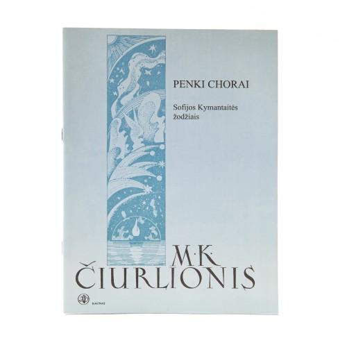 Five choirs. M. K. Čiurlionis.