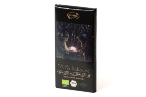 Organic black chocolate