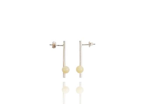 "Ketri Amber Jewelry earrings ""Delicate"" No8"