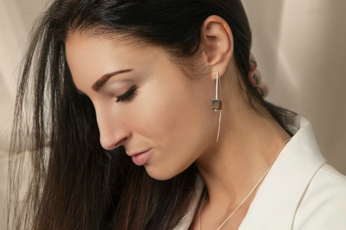 """Ketri Amber Jewelry earrings """"Touch of modern"""" No6"""