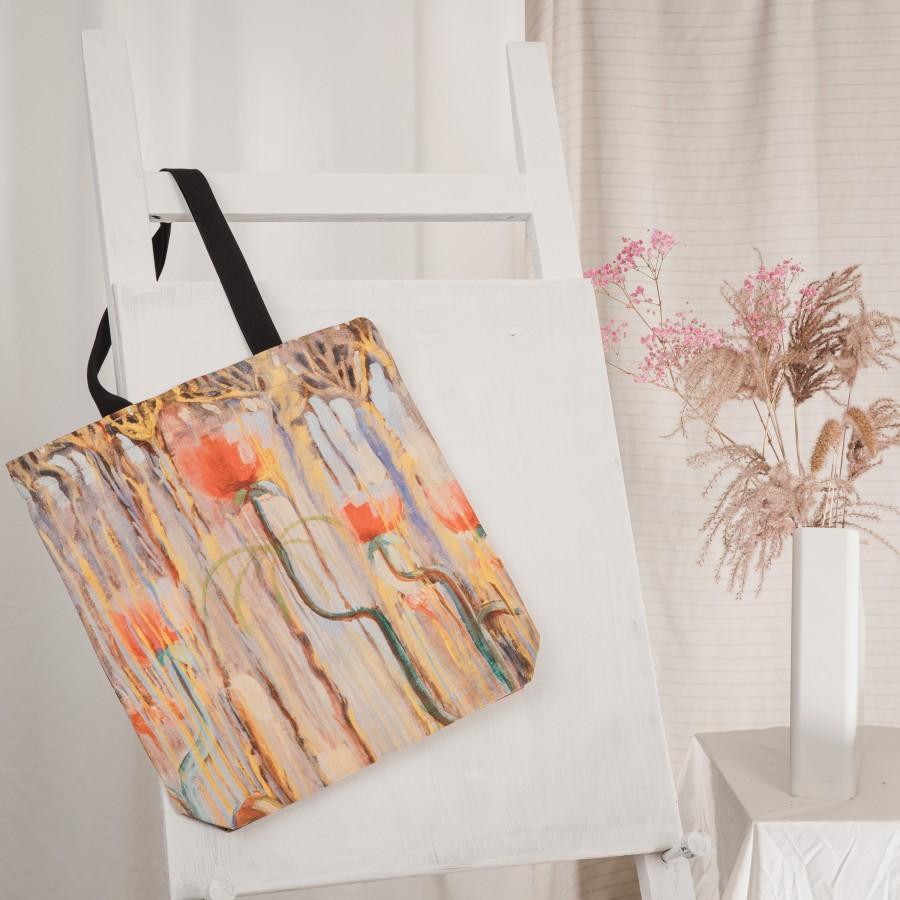 "Tote bag M. K. Čiurlionis ""Creation Of The World IX"""