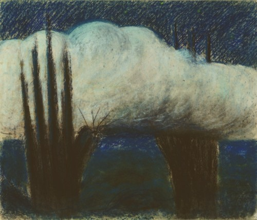 """M. K. Čiurlionis. Evening. III from the cycle of 4 paintings """"A Day"""""""