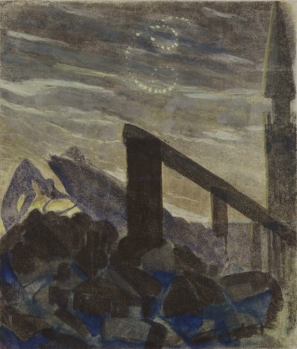 """M. K. Čiurlionis. The Sun is passing the Sign of Cancer. VI from the Cycle of 12 paintings """"The Zodiac"""""""