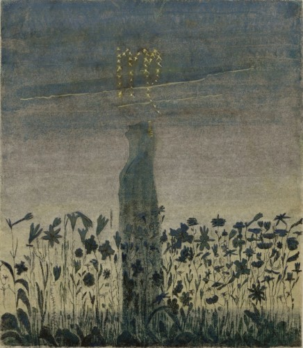 """M. K. Čiurlionis. The Sun is passing the Sign of Virgo. VIII from the Cycle of 12 paintings """"The Zodiac"""""""