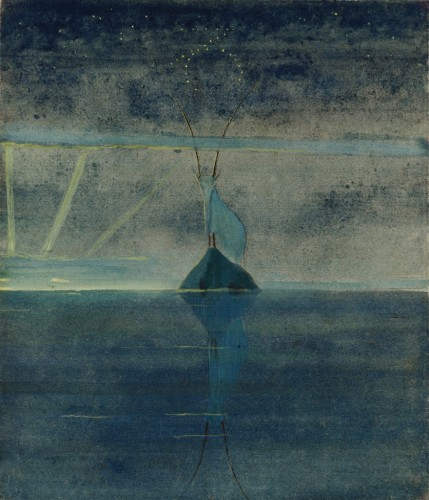 """M. K. Čiurlionis. The Sun is passing the Sign of Capricorn. XII from the Cycle of 12 paintings """"The Zodiac"""""""