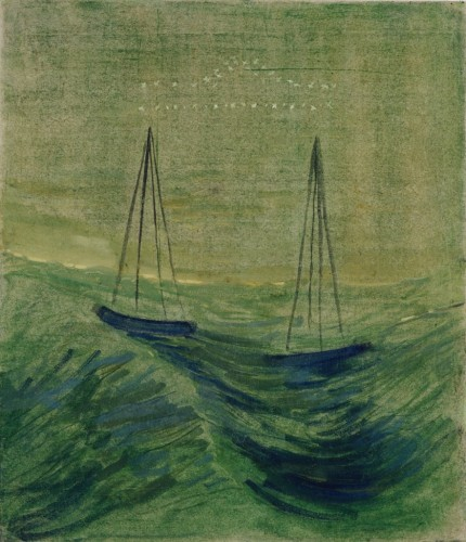 """M. K. Čiurlionis. The Sun is passing the Sign of Libra. IX from the Cycle of 12 paintings """"The Zodiac"""""""
