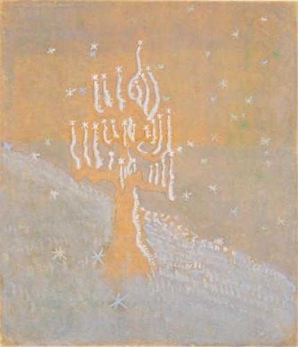 M.K.Čiurlionis. Winter. I from the cycle of 8 paintings