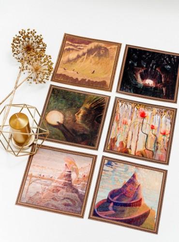 """Table placemat set """"M.K. Čiurlionis"""""""