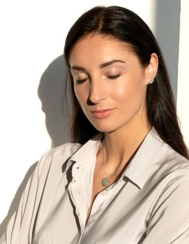 "Minimal line neck accessories ""Salty water"" 0012"