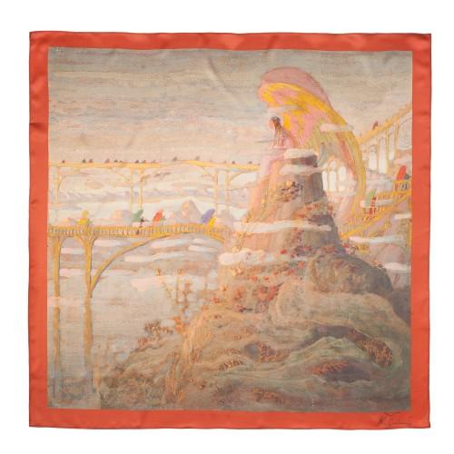 "Silk scarf M. K. Čiurlionis ""Angel (Angel prelude)"""