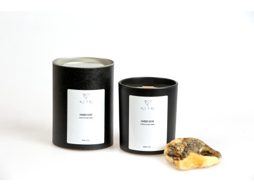 """Soy wax candle """"Amber noir"""", 300ml"""