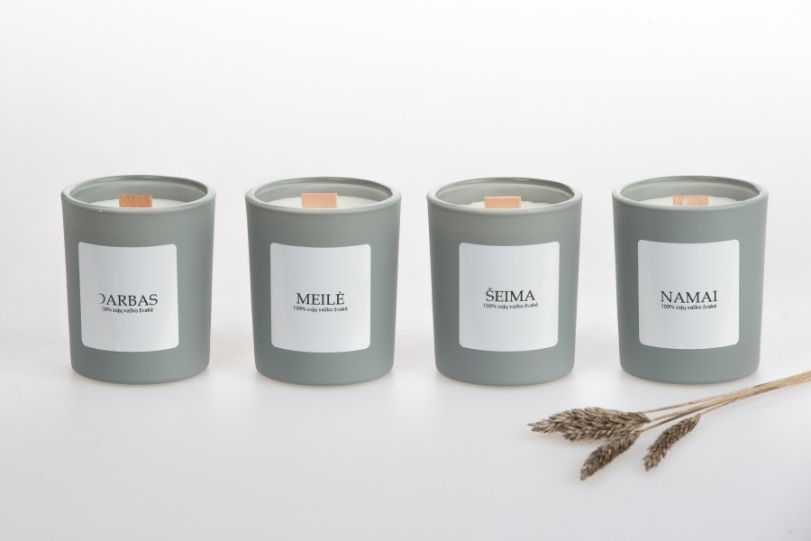 "Soy wax candle ""Namai"", 90ml"