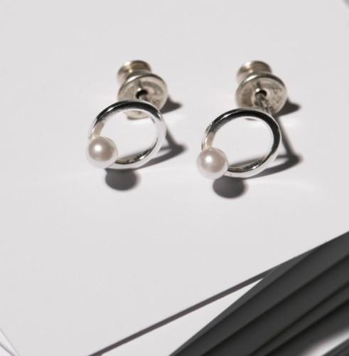 """Minimal line earrings """"Timeless"""" 0011"""
