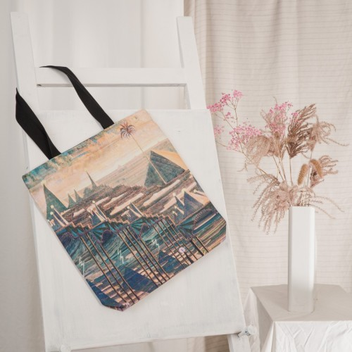 "Tote bag M. K. Čiurlionis ""Sonata of the Pyramids. Allegro """